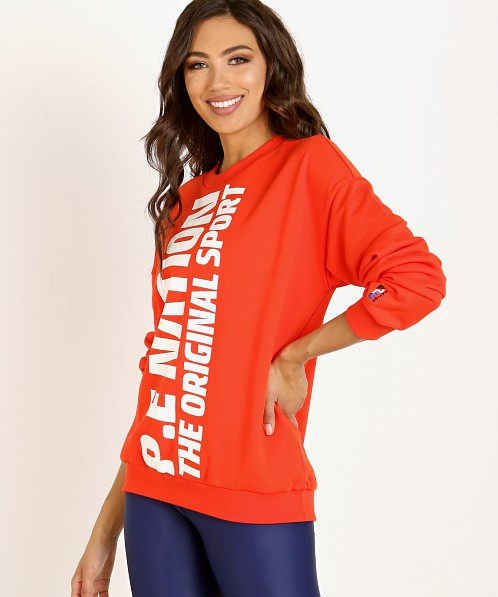 PE NATION Amped Up Sweater Red
