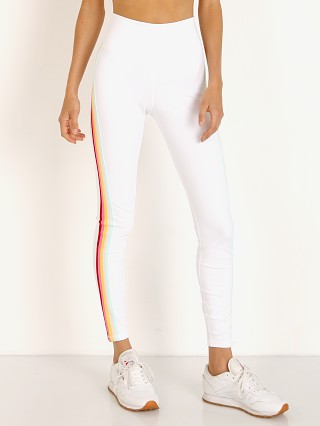 Model in white Spiritual Gangster 7/8 Legging