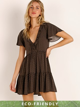Auguste the Label Pippi Matilda Babydoll Mini Dress Charcoal