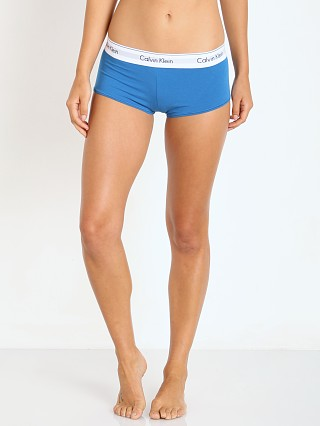 Complete the look: Calvin Klein Modern Cotton Boyshort Blue River
