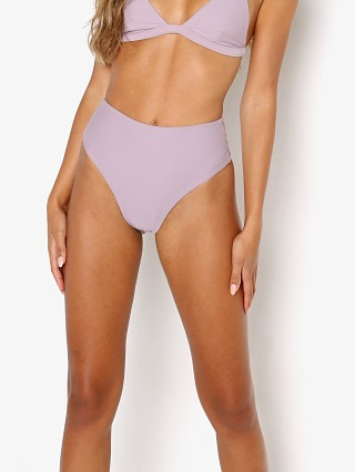 Model in purple Mikoh Waikui 2 Bikini Bottom