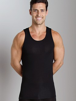 Tommy John Second Skin Tank Top Black