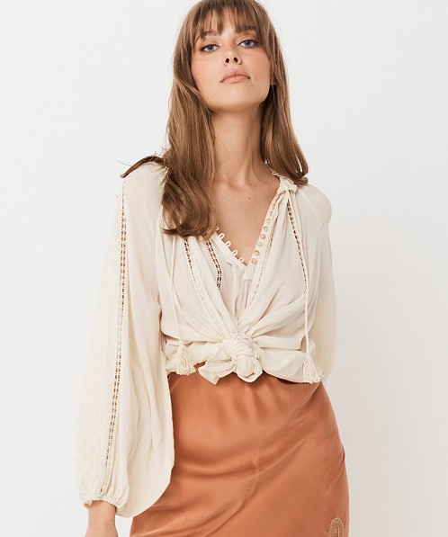 Spell & The Gypsy Loves Me Not Blouse Cream
