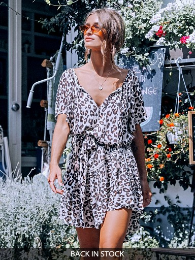Spell & The Gypsy Bodhi Mini Dress Leopard