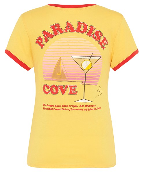 Spell & The Gypsy Paradise Cove Organic Shrunken Tee Mustard