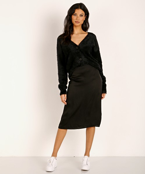 Stillwater The Silky Midi Skirt Black