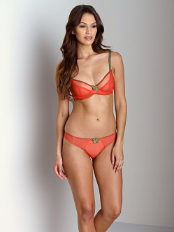Claudette Dessous Full Coverage Bra Papaya