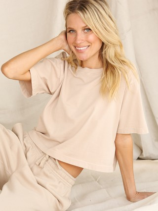 Model in sandstorm Richer Poorer Relaxed Tee