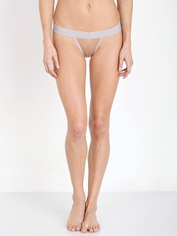 SKIVVIES by For Love & Lemons Florette Thong Dusty Grey/Nude