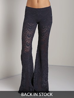 Nightcap Spanish Fan Lace Pant Charcoal