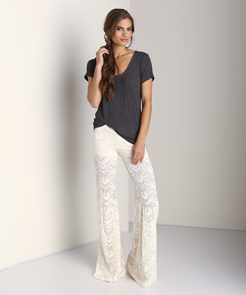 Nightcap Spanish Fan Lace Pant Ivory