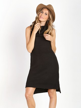 Model in black BB Dakota Marisa Sweater Dress