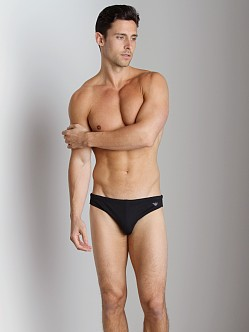 Emporio Armani Embroidery Lycra Swim Brief Black