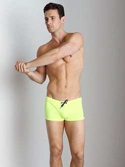 Emporio Armani Embroidery Lycra Swim Trunk Fluo Yellow