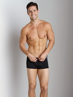 Emporio Armani Seven Stripes Swim Trunk Black