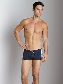 Emporio Armani Seven Stripes Swim Trunk Marine