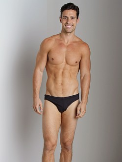 Emporio Armani Big Logo Lycra Swim Brief Black