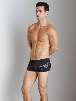 Emporio Armani Big Logo Lycra Swim Trunk Black