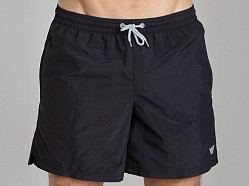 Emporio Armani Embroidery Logo Swim Shorts Black