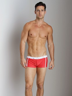 Emporio Armani Pool Lycra Swim Trunk Red