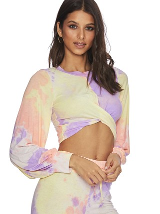 Beach Riot Marley Crop Top Tie Dye