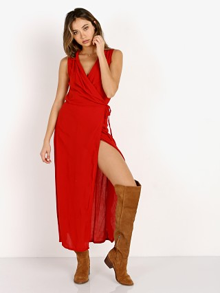 Cleobella Josie Wrap Dress Scarlet Lips