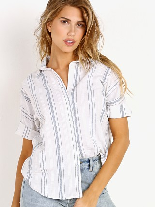 Model in rocky Ash & Ember The Los Feliz Button Down