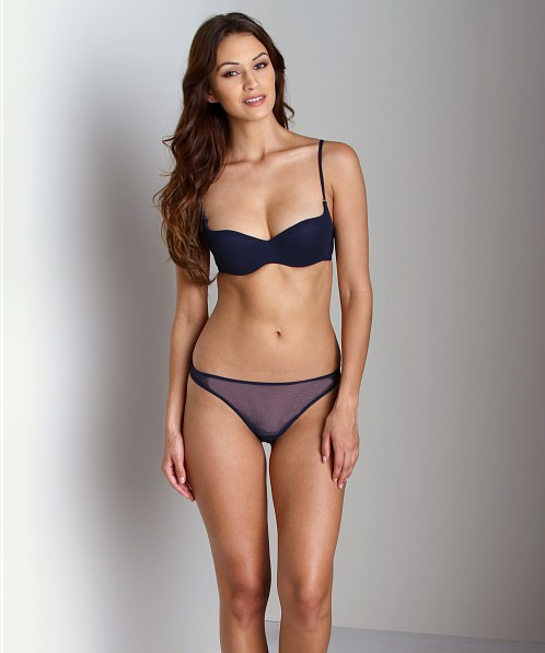 bb0b53b3c Cosabella Soire Demi Cup Bra Navy SOIRN1171 - Free Shipping at Largo Drive