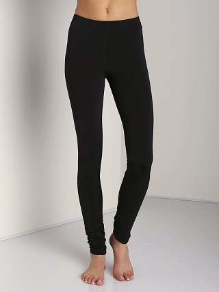 Plush Matte Spandex Fleece-Lined Legging Black