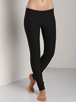 Plush Cotton Fleece-Lined Legging Black
