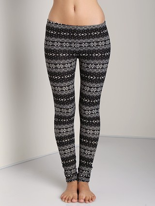 Plush Fair Isle Legging Black