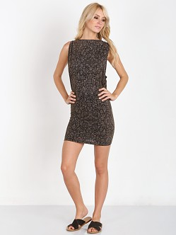 Tallow Tribal Zodiac Bodycon Dress Charcoal
