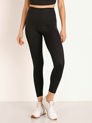 Beyond Yoga Heather Rib Waisted Midi Legging Black