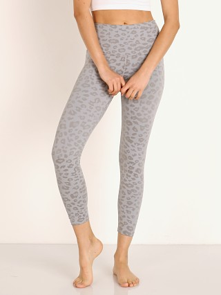Beyond Yoga High Waisted Midi Legging Gray Leopard