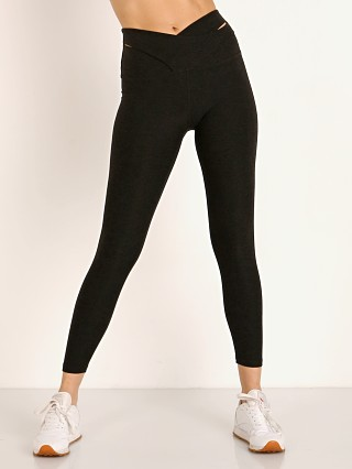 Beyond Yoga That's a Wrap High Waisted Midi Legging Darkest Nigh