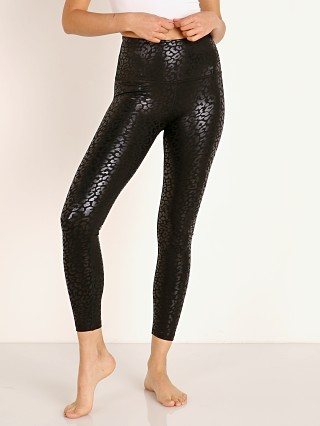 Beyond Yoga High Waisted Midi Legging Shiny Leopard Black