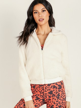 Beyond Yoga All Time Bomber Jacket Cream Sherpa