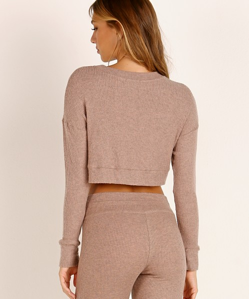 Beyond Yoga Cropped Pullover Tinted Rose