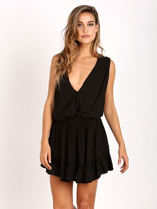 Indah Balmy Halter Mini Dress Black