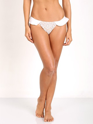 For Love & Lemons St. Tropez Ruffled Bikini Bottom Ivory