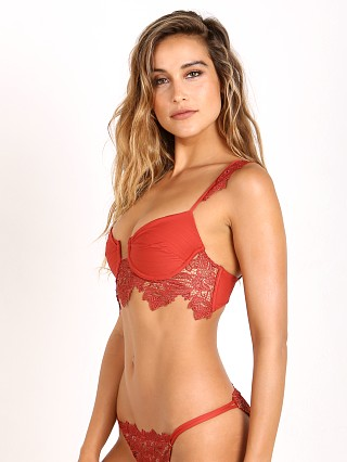 For Love & Lemons Barcelona U/W Bikini Top Terra Cotta