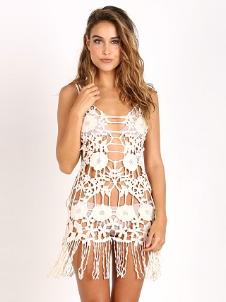 For Love & Lemons Valencia Crochet Dress Ivory