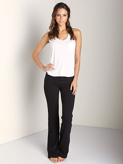 Splendid Always Active Slub Pants Black