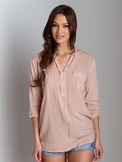 Splendid Shirting Long Sleeve Top Praline