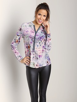 Tolani Zoe Blouse Purple Geo