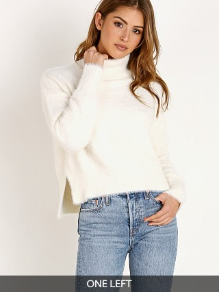 Bella Dahl Turtleneck Sweater White