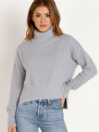 Bella Dahl Turtleneck Sweater Gunmetal