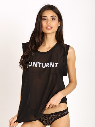 Beach Riot Mesh Tank Sunturnt Black