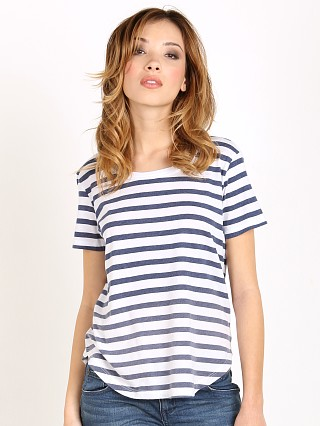 Splendid Sunfaded Stripe Jersey Navy Stripe