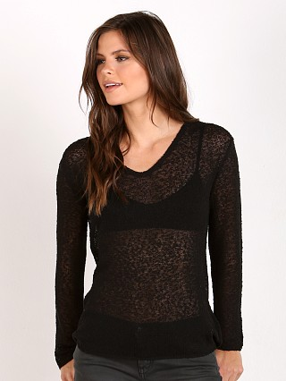 Auguste Sheer Slouchy Knit Black